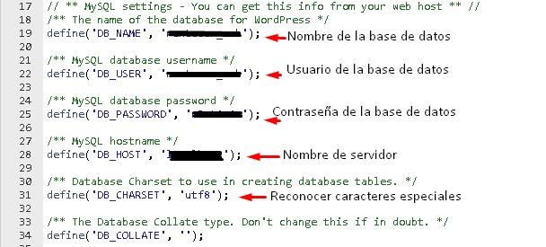 Como localizar datos de Conexión a la Base de Datos en WordPress, Joomla, PrestaShop y Moodle