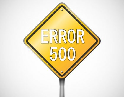 "Error 500 - ""Internal Server Error"""