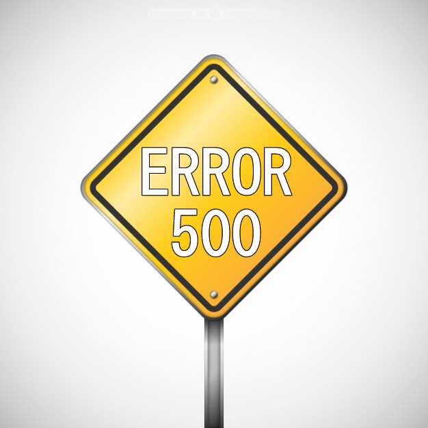 "Error 500 - ""Internal Server Error"""