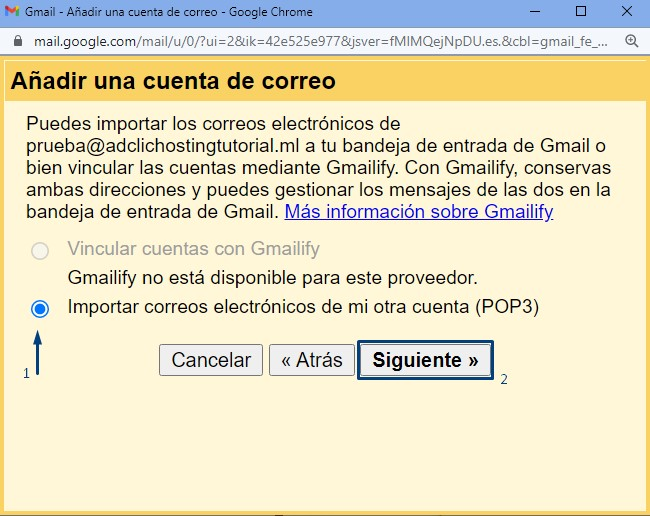Configurar correo de cPanel en Gmail