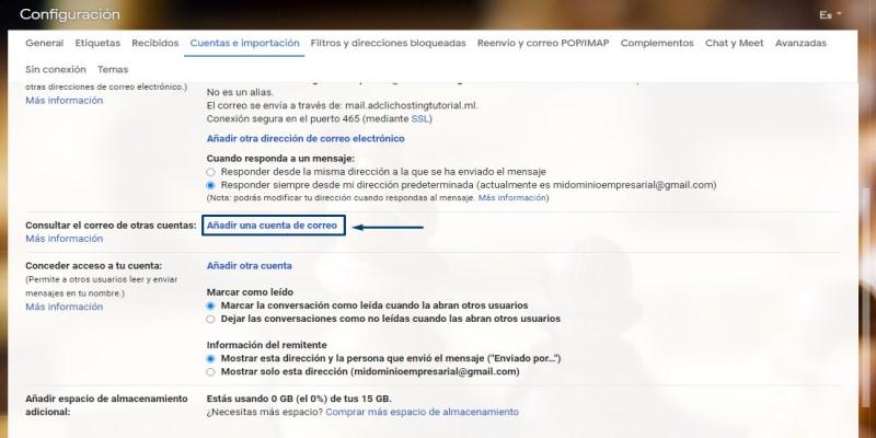 Correo corporativo en Gmail