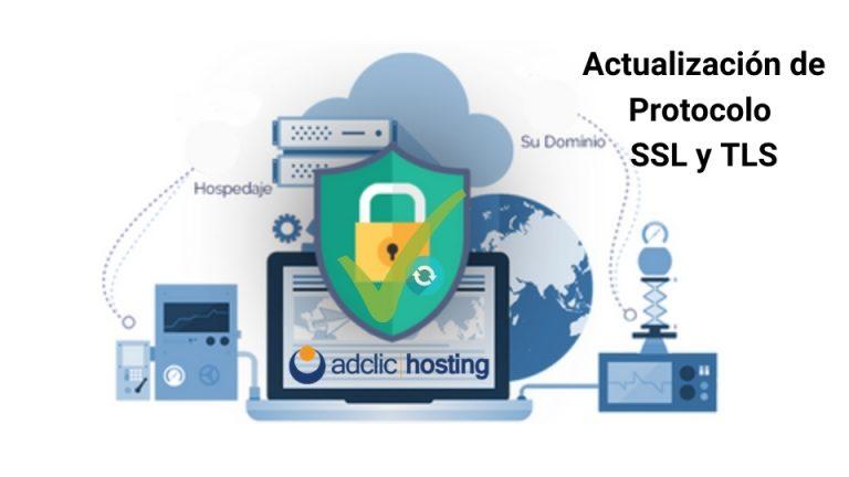 Actualización de protocolo SSL y TLS