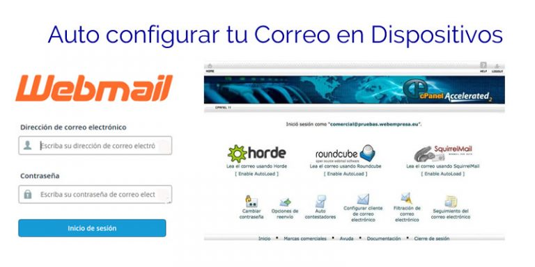 Auto Configuración de cliente de Correo desde el cPanel