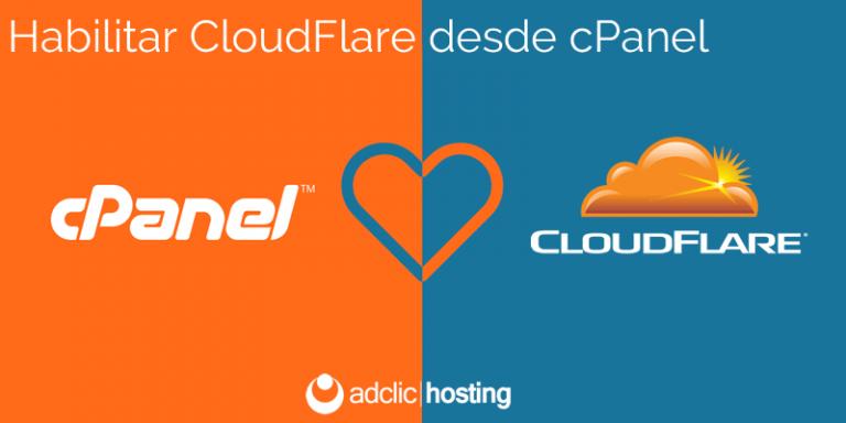 Habilitar CloudFlare desde cPanel